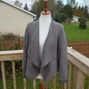Tobi Grey Suede Blazer